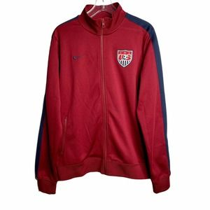 Nike Mens USA N98 Authentic Soccer Full Zip Jacket Sz Large Team Red 547036-677